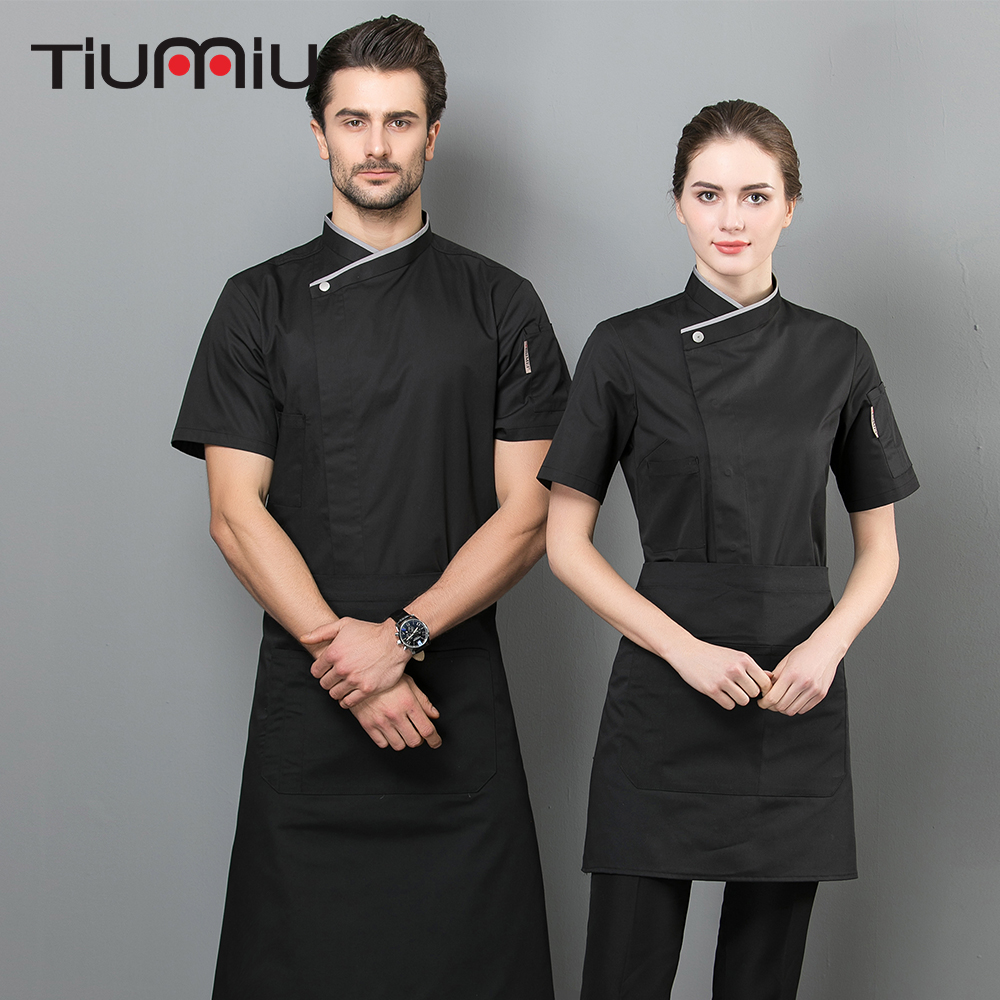 Chef Jacket Restaurant Uniform Unisex Food Service Hotel Kitchen Work Clothes High Quality Catering Shirts Panaderia Accesorios