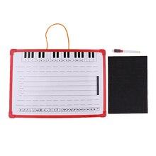 Muzieknotatie Whiteboard Dry Erase Board Met Muziek Personeel Magneet 35X25 Cm Voor Stabiele Opknoping