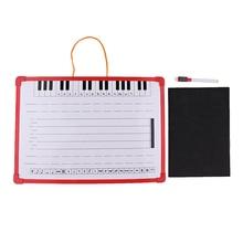 Notacja muzyczna tablica łatwe wymazywanie tablica z magnesem personelu muzycznego 35x25cm do stabilnego zawieszenia