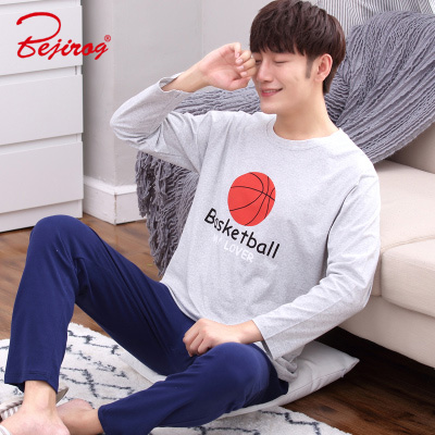 2f218d0b9d Bejirog cartoon pyjamas sets for men boy long sleeved cotton pajamas  sleepwear nightshirt animal plus size in autumn sleepshirts