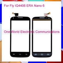 "1pcs/lot Black White 4.5 "" For Fly IQ4406 ERA Nano 6 Touch Screen Touch Panel Digitizer Sensor Front Glass Lens Tracking Code"