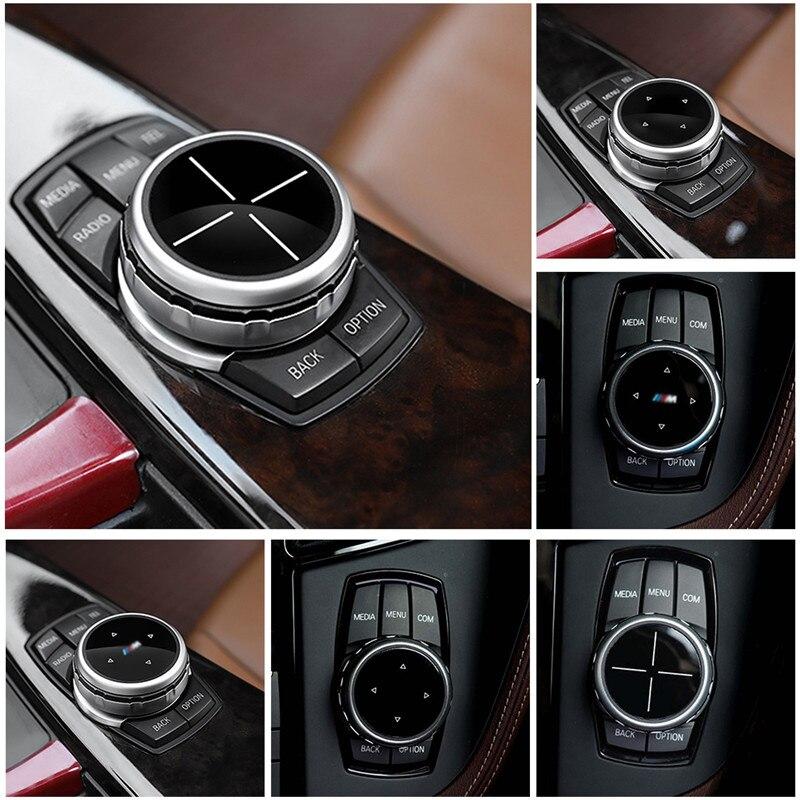 Multimídia Idrive Modificação Botão Botão Da Tampa Capa Para BMW x1/x3/x5/x6