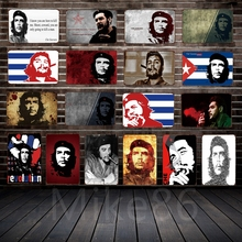 [Mike86] CHE GUEVARA Semn de metal Zid de artă Decor de decor Pub Pub cafenea Club Party Retro Wall Plaque Painting FG-137