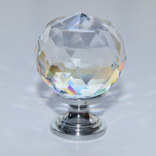 10 pcs modern crystal with brass base Wine ark wardrobe cabinet shoe cabinet 1-3/16 in. Chrome Faceted Crystal Knob