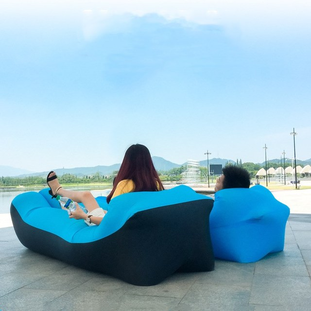 Sofa Lounger Outdoor Cream Coloured Sofas Sleeping Bag Mat Inflatable Air Couch Chair Lazy With Travel For Camping Fishing Swimming Beach