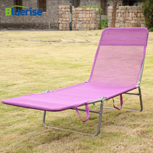 hot deal buy bluerise outdoor folding bed chaise lounge camping hiking solarium massage couch cabana garden patio furniture beach chair