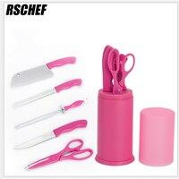The Kitchen Knife Set Six Piece Stainless Steel Kitchen Knife Scissors Knife Sharpener With Frozen Fruit