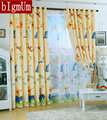 Eco-friendly Curtains For Kids Pooh bear Cartoon Curtains Sheer curtains 100%Blackout Curtains Yellow Mouse