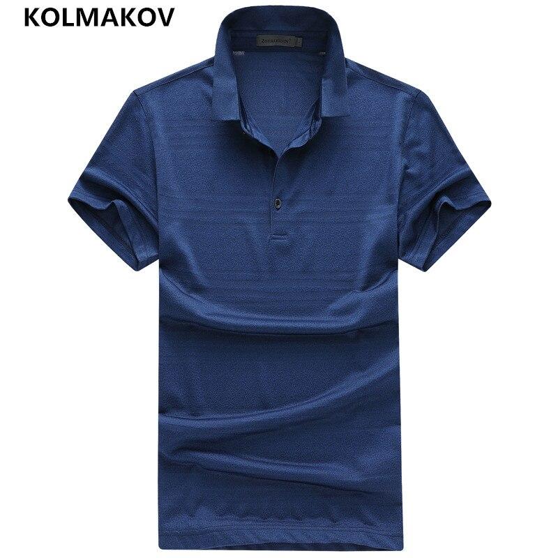 2019 KOLMAKOV Brand   Polo   Shirt Men Solid Color SportWear Breathable Cool Short Sleeve Collar   Polo   Shirt for Man   Polos   Hombre