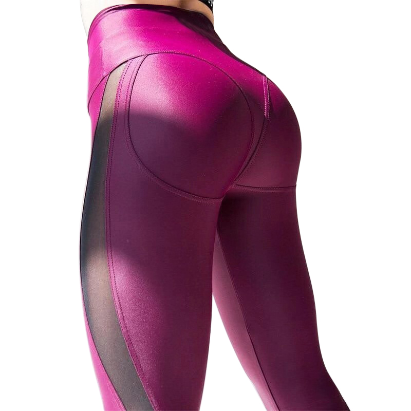 Vertvie 2019 Fashion Women 39 s Mesh Workout Gym Sports Seamless Leggings Sexy High Waisted Gym Running Multicolor Yoga Nine Pants in Yoga Pants from Sports amp Entertainment