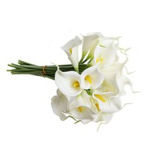 Calla Lily Bridal Wedding Bouquet 10 head Latex Real Touch KC51 White