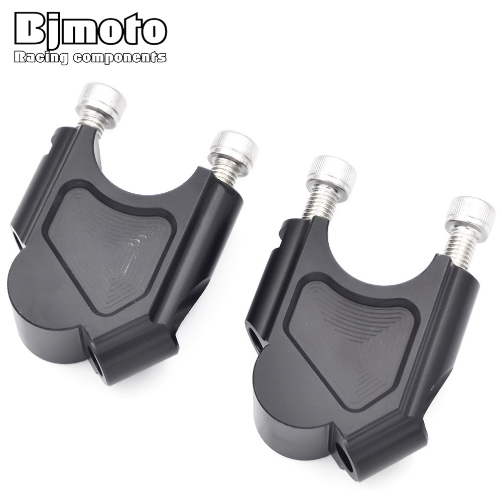 BJMOTO Motorcycle Motorcycle Bar Clamps Raised Handlebar Handle Bar Risers For BMW F800GS 2008-2017 Moves Bar Up 40mm bjmoto r1200gs motorcycle cnc handle bar handlebar riser top clamps for bmw r1200gs lc 13 16 r 1200gs adv 14 16 motorbikes