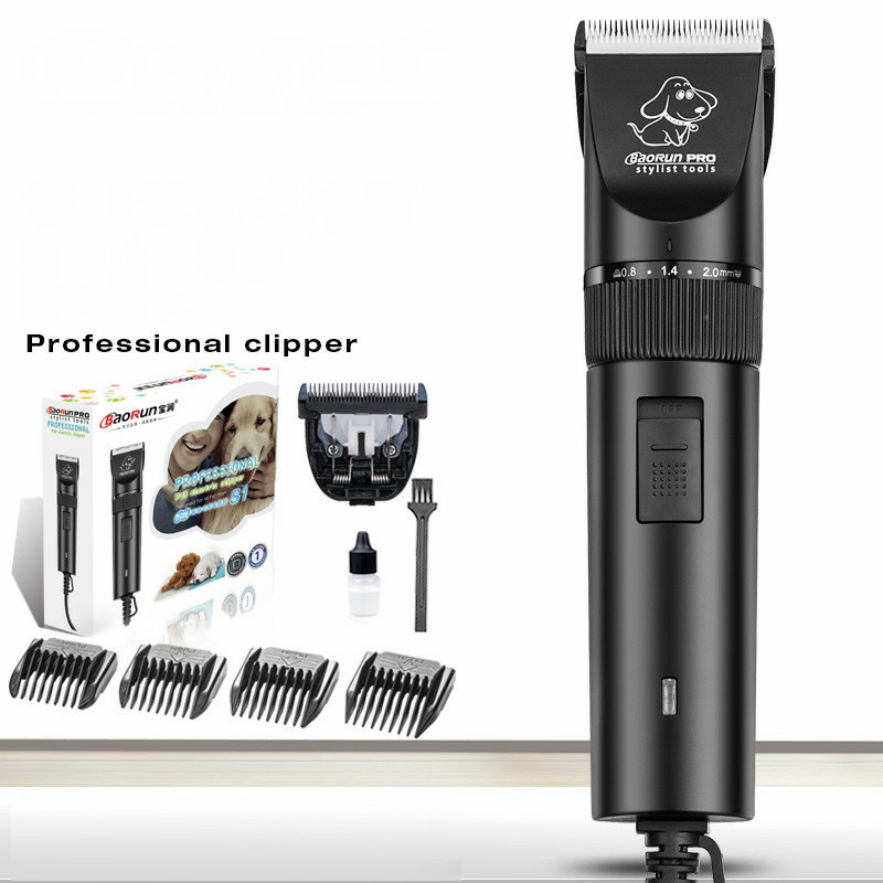Double-Blades Professional Pet Dog Hair Trimmer Animal Grooming Clippers Cat Cutters Machine Shaver Electric Scissor