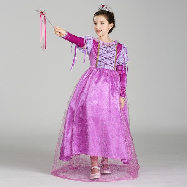2017 vestido de la princesa de Pelo Largo caliente mariposa púrpura ...