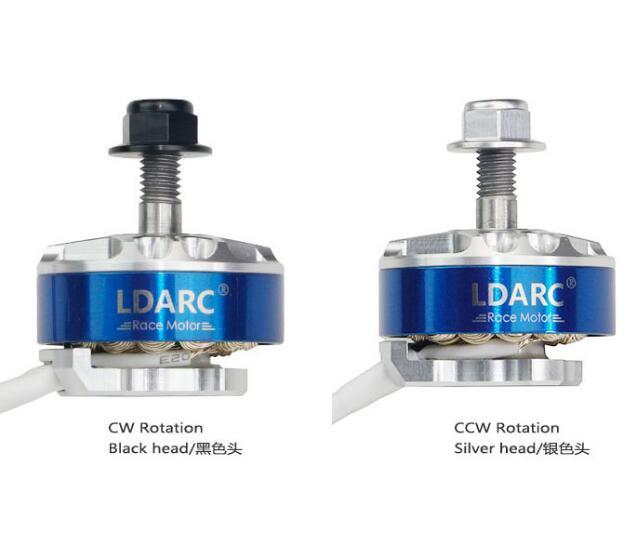 LDARC XT2306 1700KV 2500KV Motor de alta eficiencia sólido hueco eje de acero dinámico balance Motor de ajuste para RC Drone Copter