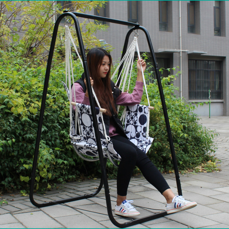 Adult Thickening Swing Chair University Dormitory Lazy Cradle Hammock Outdoor And Indoor Swing Patio Balcony With Metal Stand