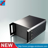 445 89 300mm 2U Custom IRD Cabinet Aluminum Enclosure Integrated Receiver Decoder QPSK Modulator EDFA Optical