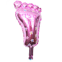 BP Cartoon boy little girl pedals aluminum baby birthday party decoration with balloons JJ QQ41