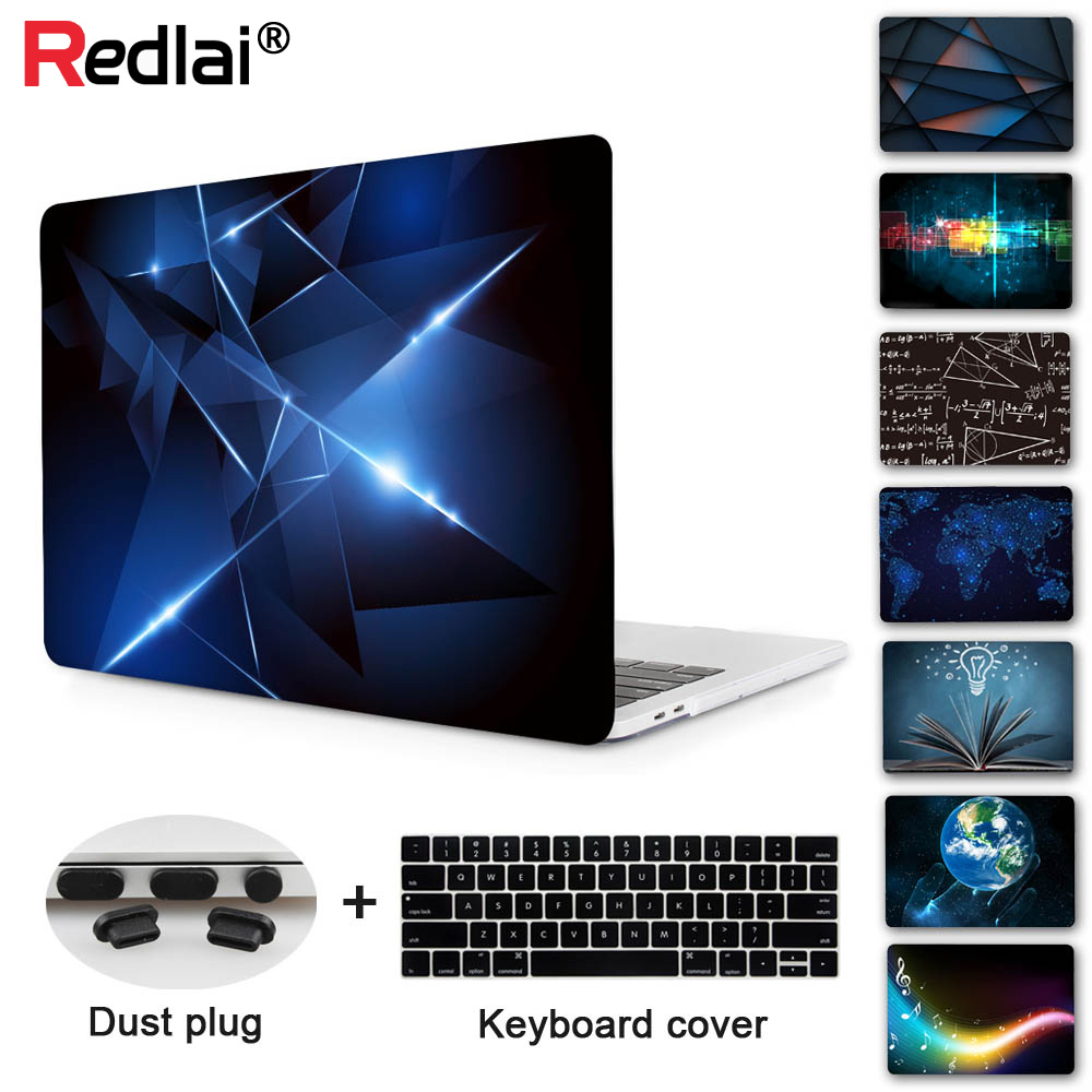 "Redlai 2018 & 2017 Crystal Laptop Sleeve Hårdt fodral för Apple Macbook Air Pro Retina 11 13 15 ""Nyaste Pro 13 Touch Bar A1706"