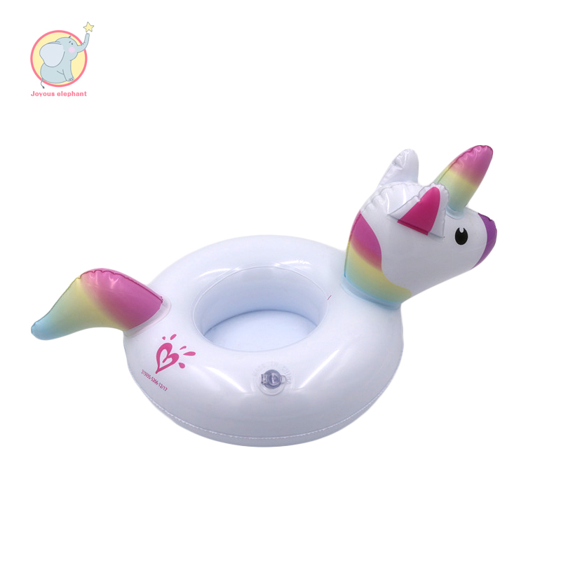 Inflatable Rainbow Unicorn cup mats holder pool Float holiday summer  seat water toys for child adult kids beach Party Dressing