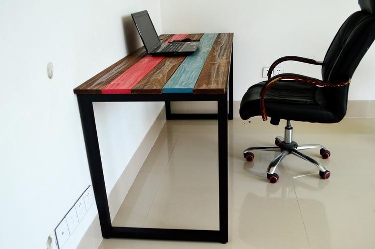 Barato retro americana a hacer el viejo madera de hierro for Comprar escritorio barato