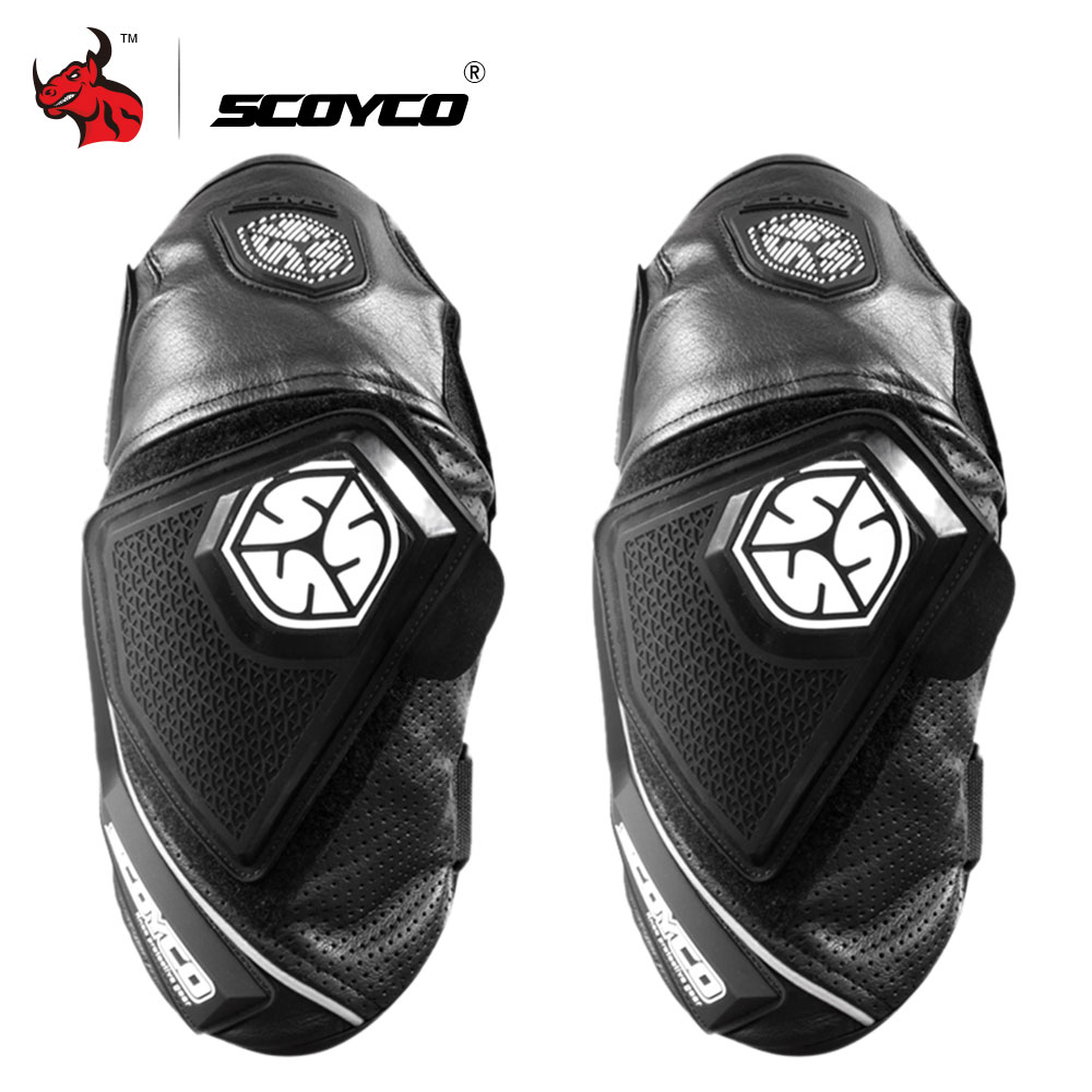 SCOYCO Motorcycle Knee Leather Motocross Pad Knee Pads Protective Gear Breathable Moto Knee Motorcycle Protection Black motorcycle protection motorcycle knee pads protector moto racing protective gear pro biker p03 motocross knee protector