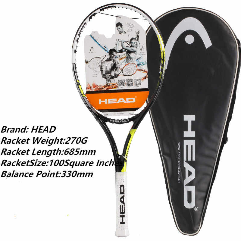 HEAD Attitude Pro Tennis Rackets For Men Women Top Quality Champion Professional  Rackets For Tennis Shockproof Man Racquets Bag
