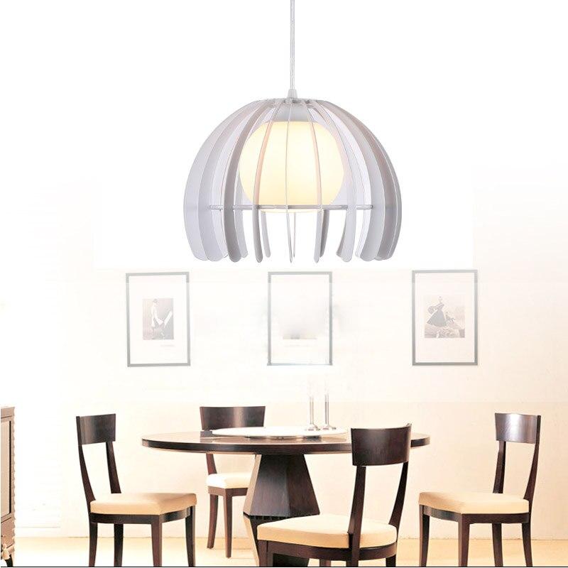 Современный 5 Вт Led Подвесной Светильник Loft Столовая Кухня Светильники Черный белый Железный Стекло Абажур Домашнего Освещения E27 110-220 В