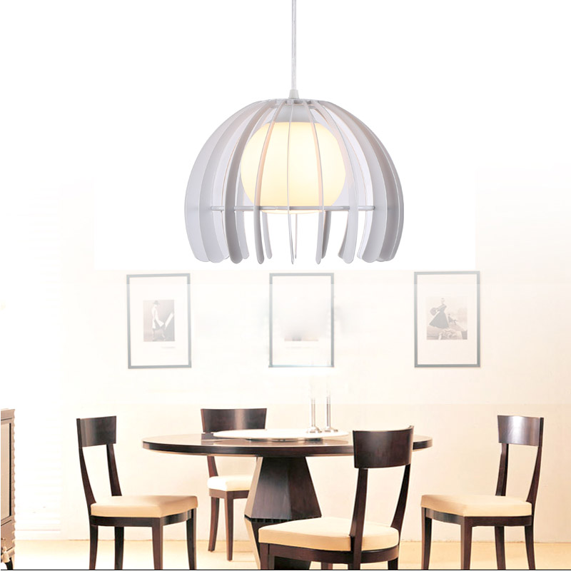 Modern 5W Led Pendant Lamp Loft  Dining Room Kitchen Light Fixtures Black white Iron Glass Lampshade Home Lighting E27 110-220V black iron lampshade abajur diameter 38cm big home light dining room kitchen pendant light pendant lamp e27 e26 bulb fitting