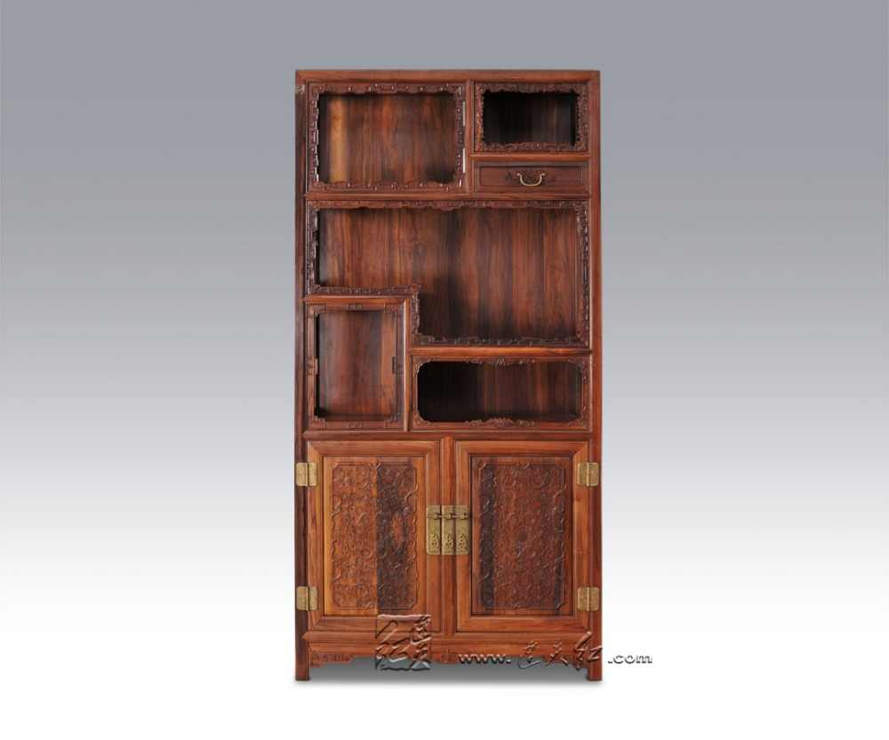 Solid Wood File Cabinet Living Room Furniture Filing Cabinet Solid Wood Bookcase China Antique Rosewood Redwood Magazine Racks Multi Function Shelves