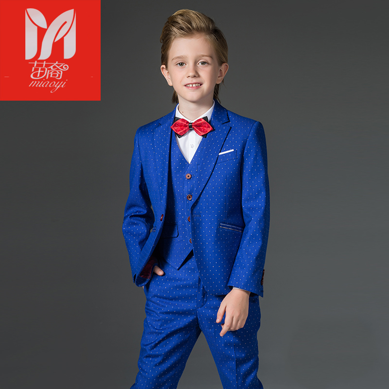 Boy suits British children's dress in the big children's flower dress performance service chair leisure suit jacket alfie gets in first