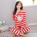 Venta caliente Otoño 100% Algodón 4 Colars Nuevo Hello Kitty Ropa de Dormir Pijamas Para Las Mujeres Ladies Home