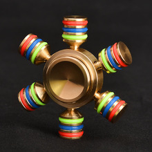 Toys Hobbies - Stress Relief Toy - COOLPLAY Rainbow Fidget Spinner Finger Spinner Hand Spinner Brass Metal For Autism Adult Anti Relieve Stress Toy Spiner