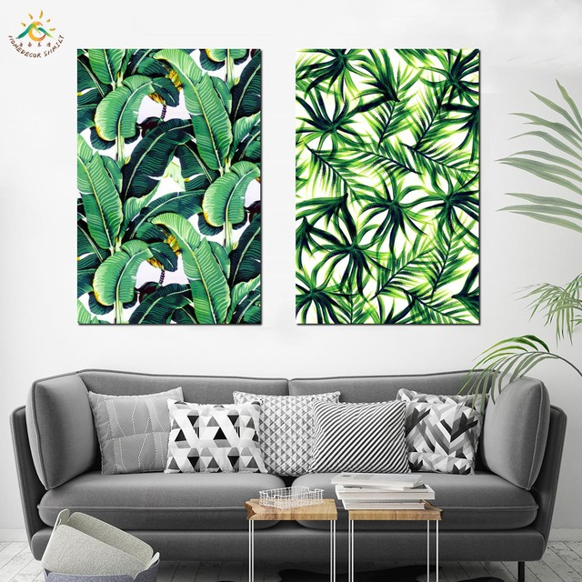 Palm Leaf Banana Leaf Nordic Modern Canvas Painting Wall Pictures Canvas Prints And Poster Wall Art Home Decor for Living Room