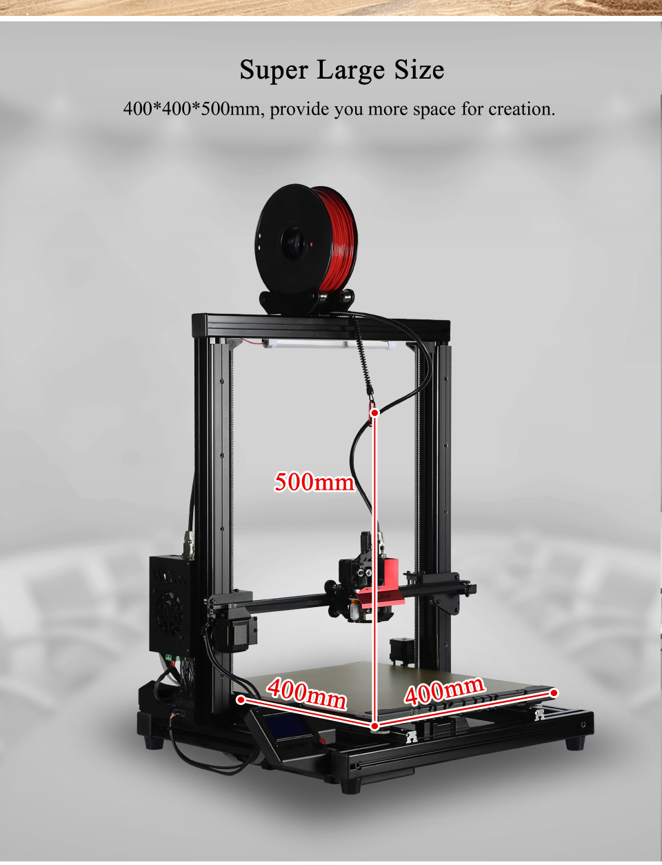Vivedino Raptor 2+ Industrial Grade Large Scale 3D Printer