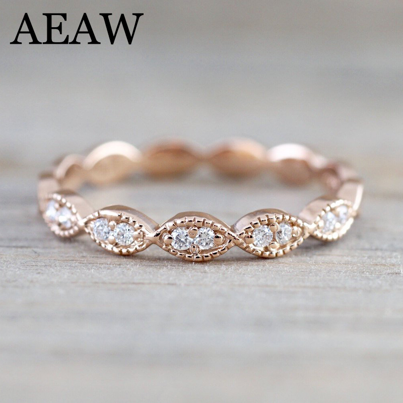 AEAW 14K Yellow Gold DF Moissanite Moissanite Engagement Wedding Band Total lab Diamond Solitaire Wedding for Women transgems 1 carat lab grown moissanite diamond solitaire wedding band for man brilliant solid 18k two tone gold gentle dcc031