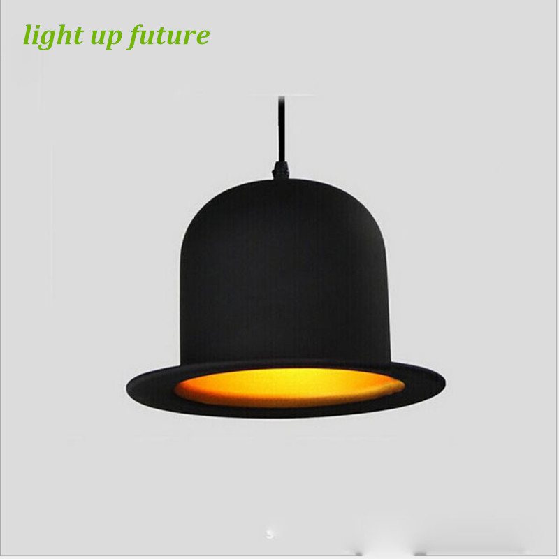 Creative Vintage Aluminum Hat Pendant Light for Restaurant Shop Market Led E27 Metal Pendant Light AC 80-265V  1109 hat light new design top pendant lights aluminum gentleman formal hat light creative pendant lamp for kitchen coffee shop bar