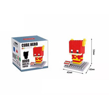 HSANHE Q version The Flash ego nero legoe star wars duplo lepin brick minifigures ninjago guns duplo farm castle super heroes