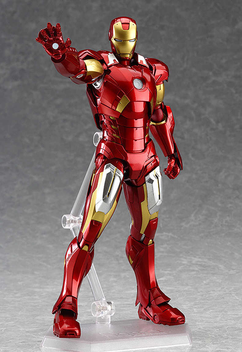 Figma 217 The Avengers Age of Ultron Ironman Homem De Ferro Modelo de Brinquedo Figura MK7 16 cm