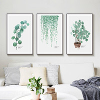 3 pcs/set Nordic Living Room Decorative Photo Frame Green Planting Picture Frames For Paintings Porch Hall Hanging Photo Frame
