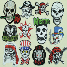 AMAZING SKULL STAR Iron On Patch Sewing Embroidered Applique Clothes Stickers Garment Apparel Accessories