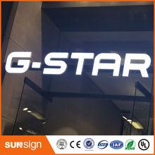 Mini customized acrylic led letter sign epoxy resin luminous letter