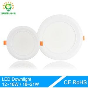GreenEye ультра яркий 12 Вт 18 Вт 6/7.5 дюймов алюминиевый светодиодный светильник 220 В точечный потолочный светодиодный светильник Теплый Холодный...