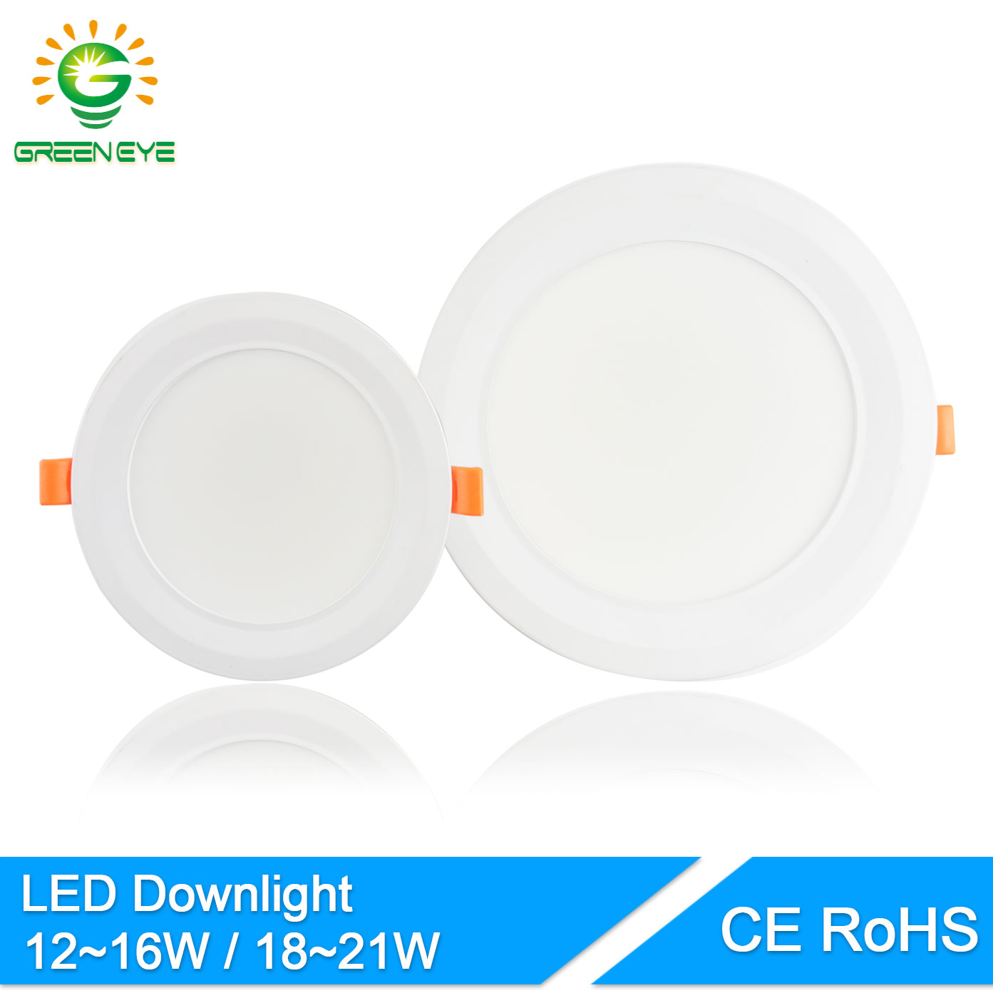 GreenEye Ultra Bright 12w 18w 6 / 7.5Inch Aluminio Downlight LED 220v Spot Plafón LED Down Light Lámparas Iluminación Blanco frío cálido