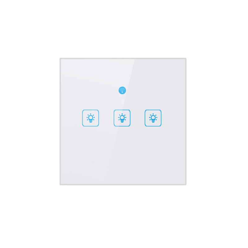 ELI Wifi Intelligent Switch Panel 86 Wireless Remote Control Wall Glass Alexa Voice