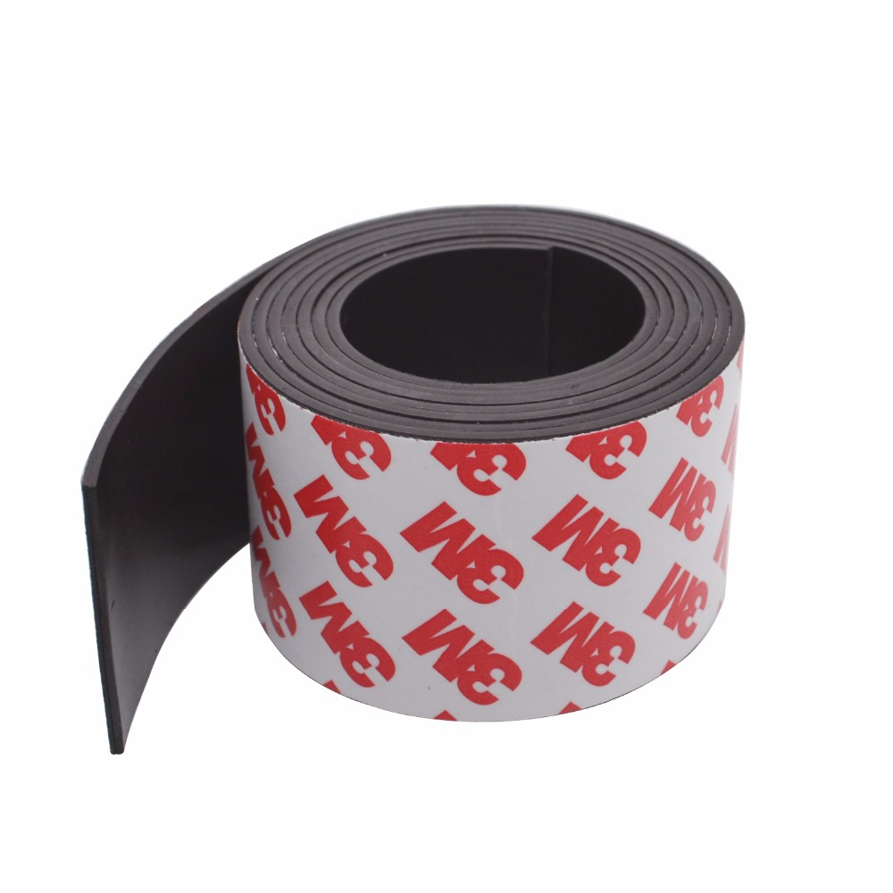 Free Shipping 1Meters self Adhesive Flexible Magnetic Strip 1M Rubber Magnet Tape width 40mm thickness 1.5mm free shipping 5 meters flexible magnetic strip 5m rubber magnet tape width 50mm thickness 1 5mm