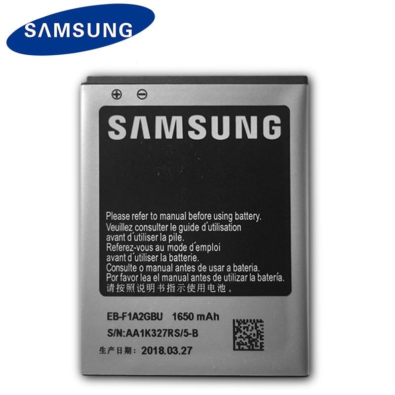 Bateria original de samsung EB-F1A2GBU 1650 mah para galaxy s2 i9100 i9108 i9103 i777 i9105 i9188 i9050 baterias de substituição do telefone