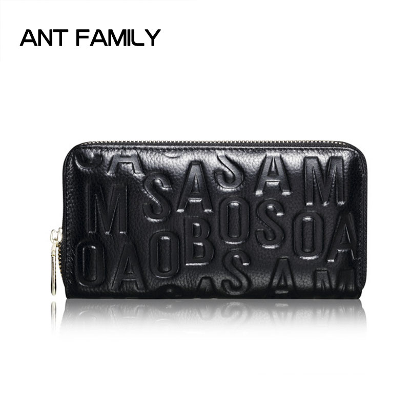 Fashion Genuine Leather Wallet Women Long Purse 2018 High Quality Lady Zipper Wallet Large Capacity Female Party Bag Coin Purse women wallet long zipper wallet high capacity crocodile grain female card package fashion hand bag change purse