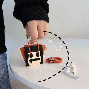 Image 5 - Dla etui AirPods silikonowe śliczne 3D torebka przypadku słuchawek dla Airpods 2 przypadku słuchawek dla Apple Air pods pokrywa Earpods pierścień pasek