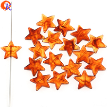"Cordial Design 22x21MM 450Pcs/Lot Acrylic Imitation ""AmberEffect"" Straght Hole Star Beads For Hand Made Earring DIY Jewelry"